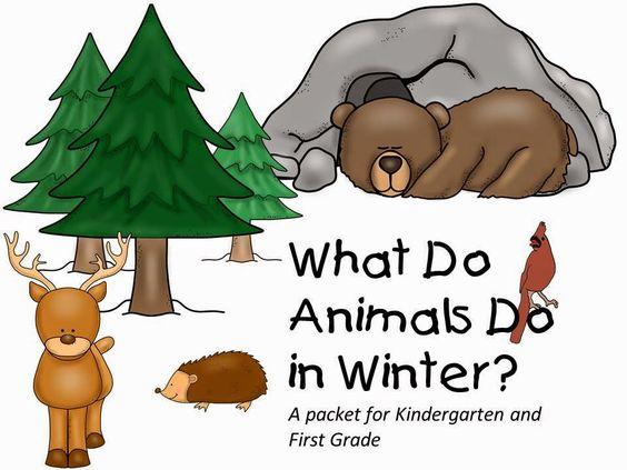 animals in the winter clip art.