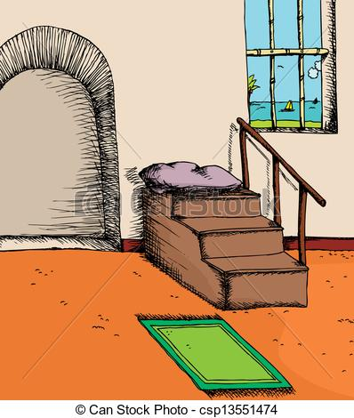 Vectors Illustration of Mosque By The Sea.
