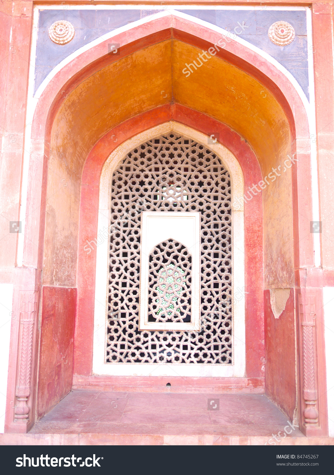 Symbolically Cut Out Mihrab Facing West Stock Photo 84745267.