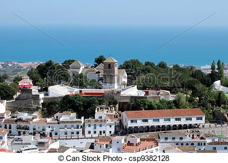 Pictures of Town and sea, Mijas, Andalusia..