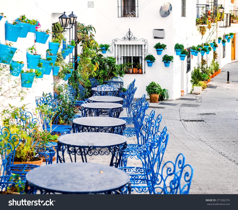Mijas Street Charming White Village Andalusia Stock Photo.