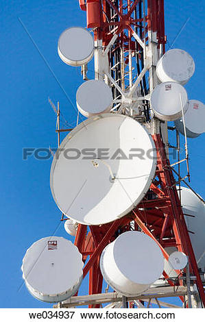 Picture of Communications masts and antennae above Mijas, Costa.