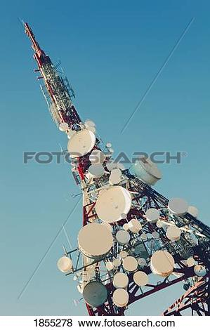 Pictures of Communication masts and aerials; Mijas, Costa del Sol.