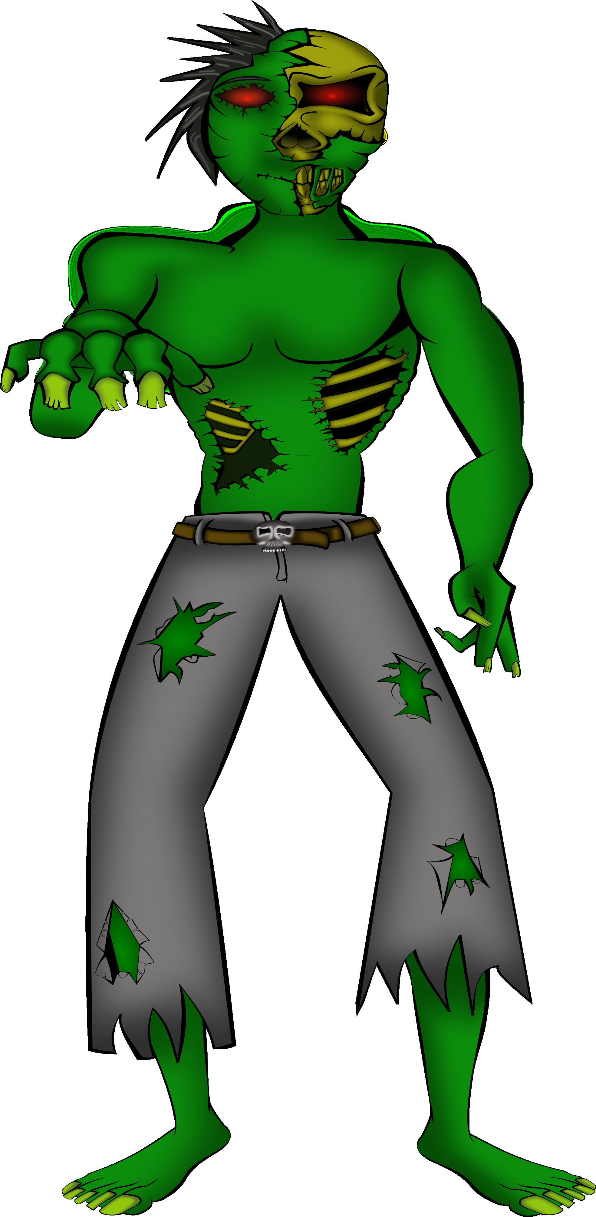 clipartist.net » Clip Art » Zombie Mika Bain Halloween SVG.