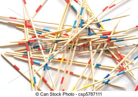 Stock Photography of mikado sticks.