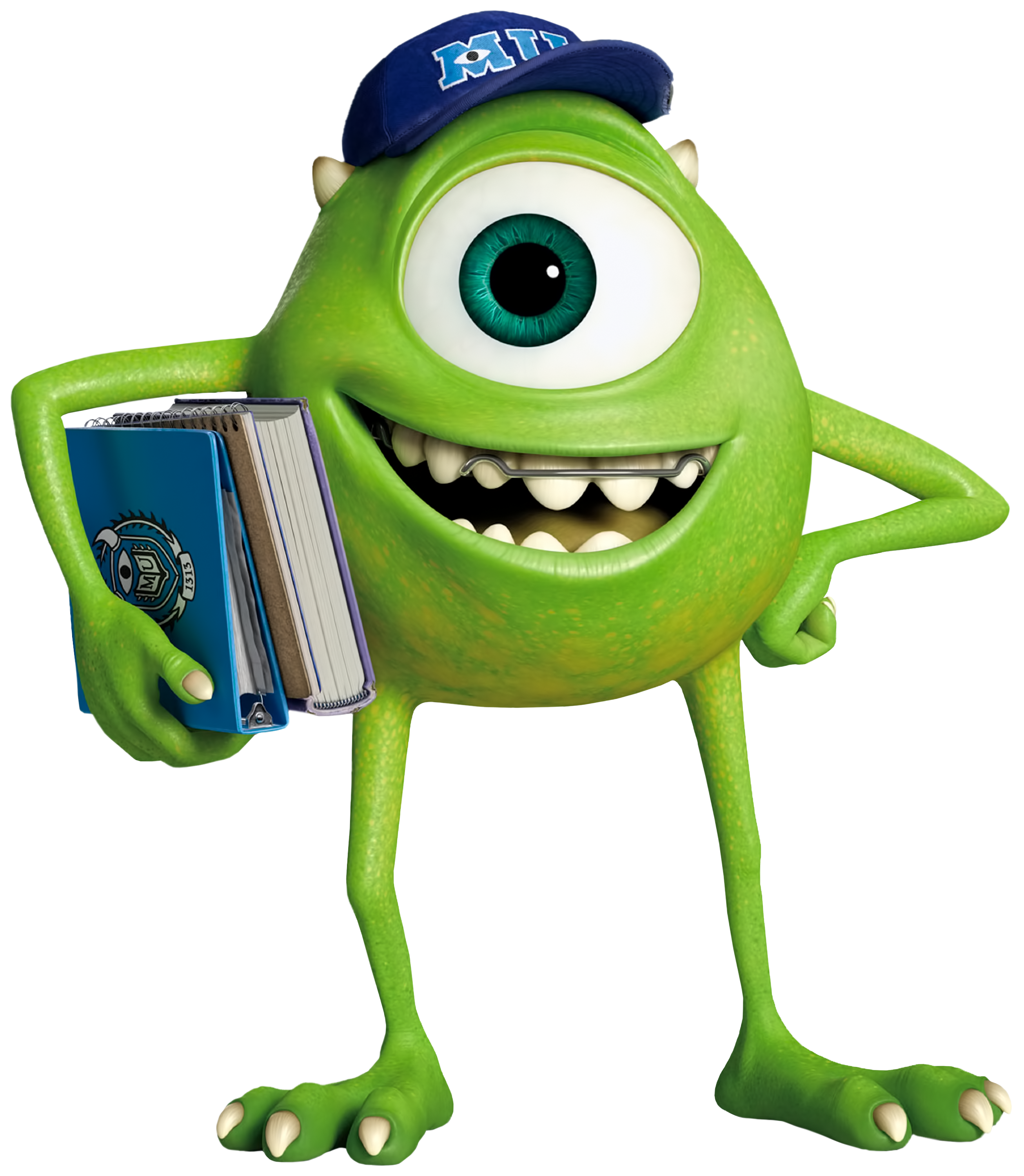 Mike Wazowski Monsters University Transparent PNG Image.