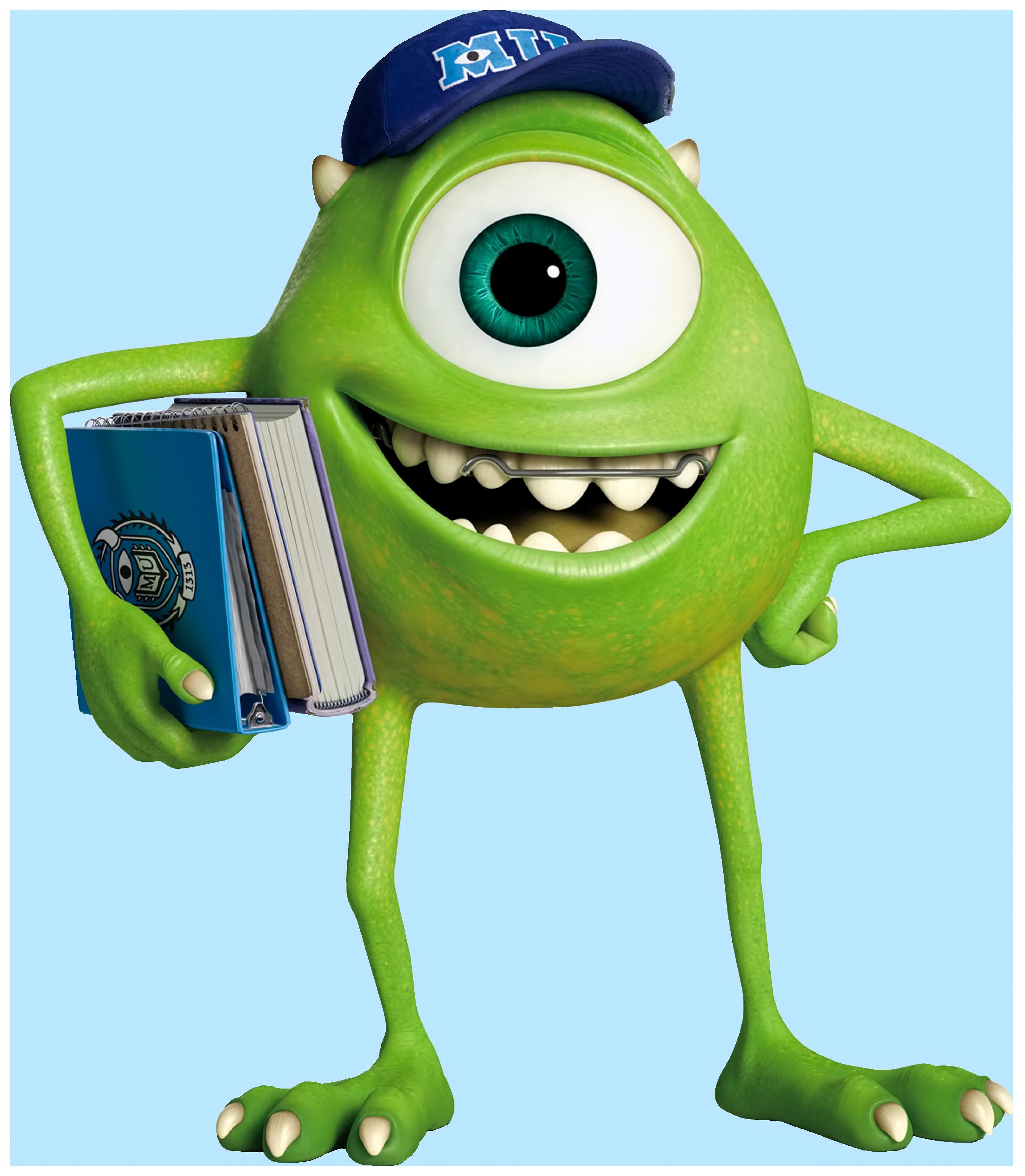 Mike Wazowski Monsters University Transparent PNG Image.