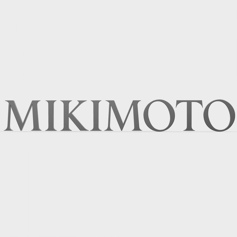 Mikimoto logo 3D Model in Jewellery 3DExport.