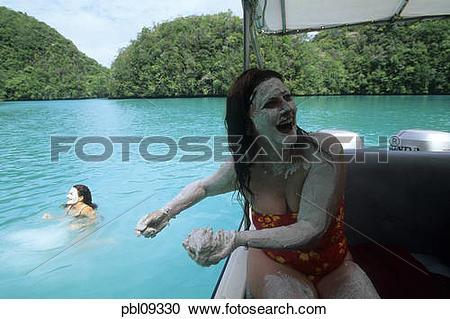 Stock Photography of Milky way, Mud bath, Rock Islands, Palau.