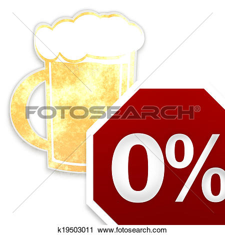 Clipart of Alcohol limit 0 per mil creative beer design k19503011.