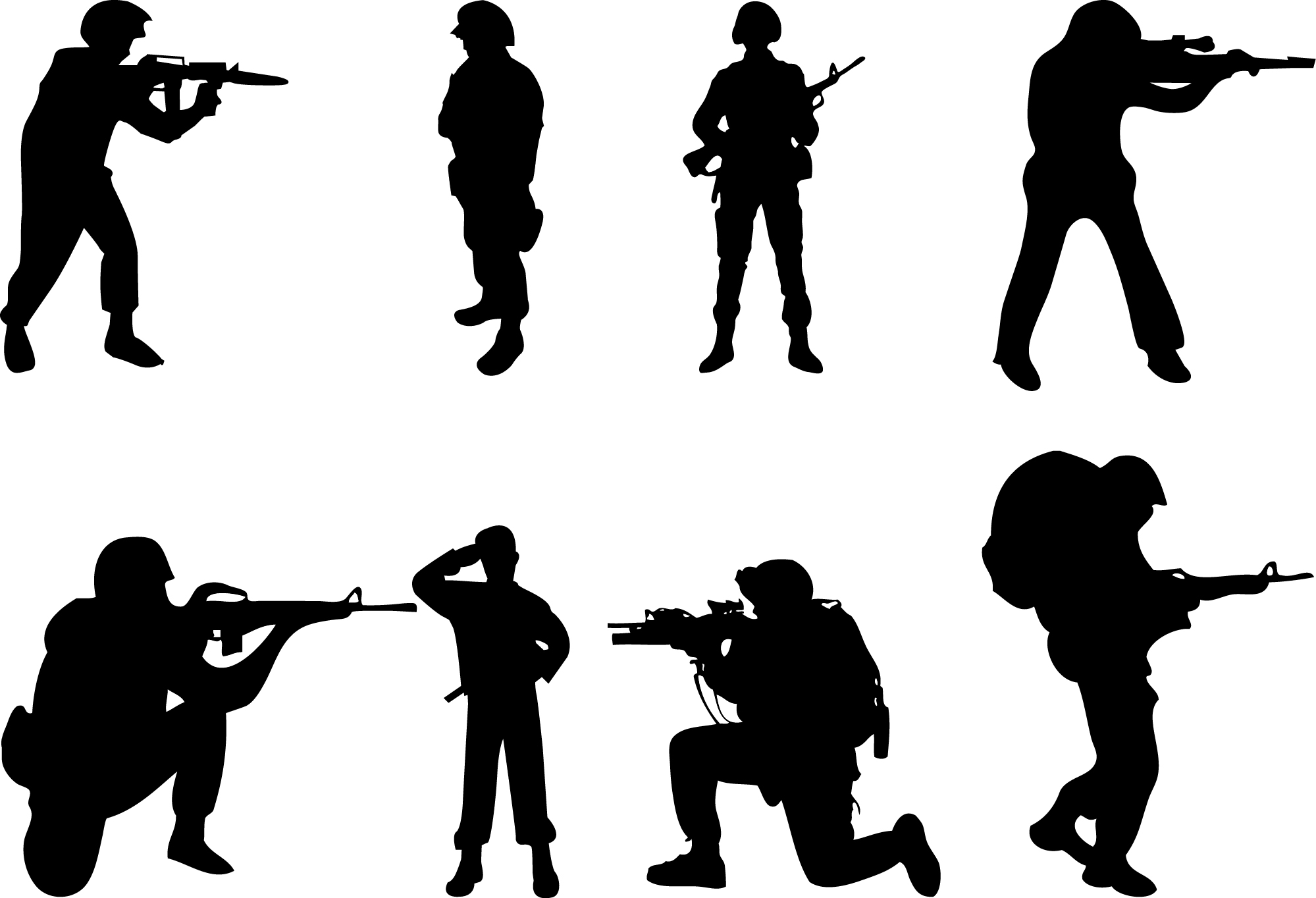 Silhouette Soldier Soluting Clipart#2126719.