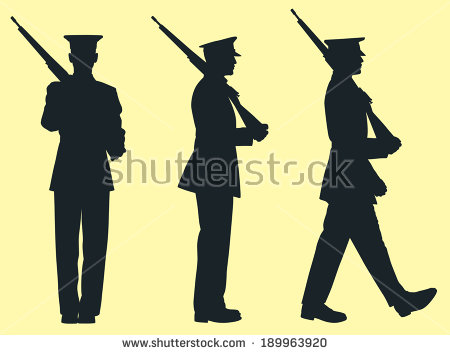 Military Silhouette Stock Images, Royalty.