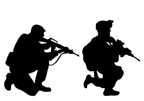 Military Silhouette Clip Art.