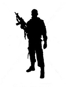 Silhouette Of Soldier.