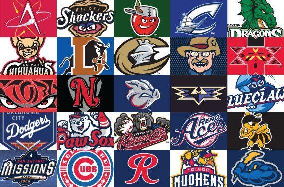 MILB logos.