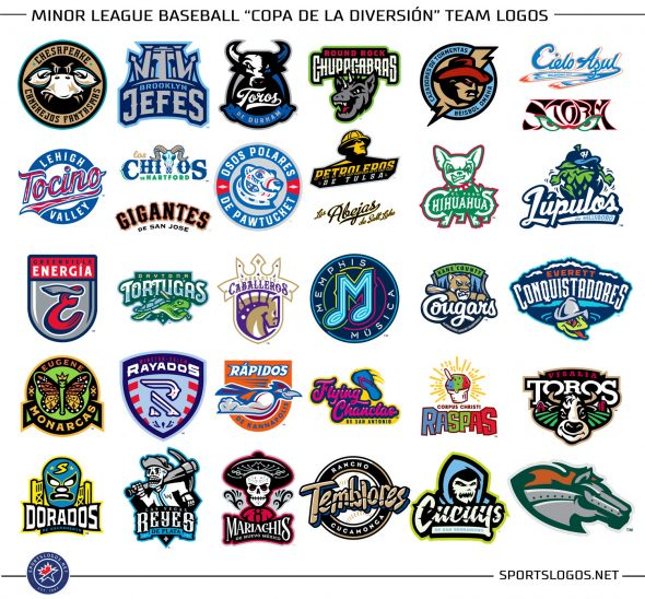 MiLB es Divertido, 33 Clubs Unveil Spanish Rebrands for 2018.