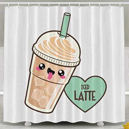 Amazon.com: LETEPRO Coffee Clipart Shower Curtain Mildew.