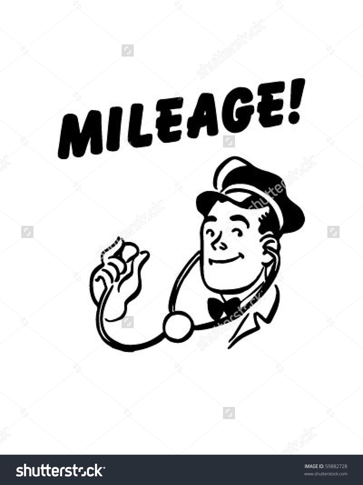 Mileage Service Station Mechanic Retro Clip Stock Vector 59882728.
