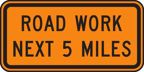 Road Work Next 5 Miles Clip Art at Clker.com.