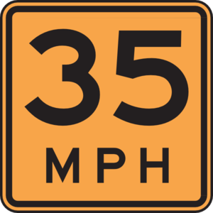 35 Mph Sign Clip Art at Clker.com.