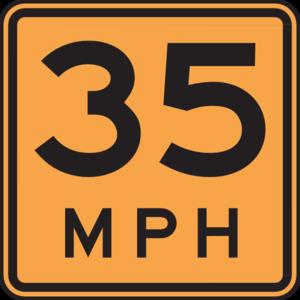 35 Mph Sign Clip Art at Clker.com.
