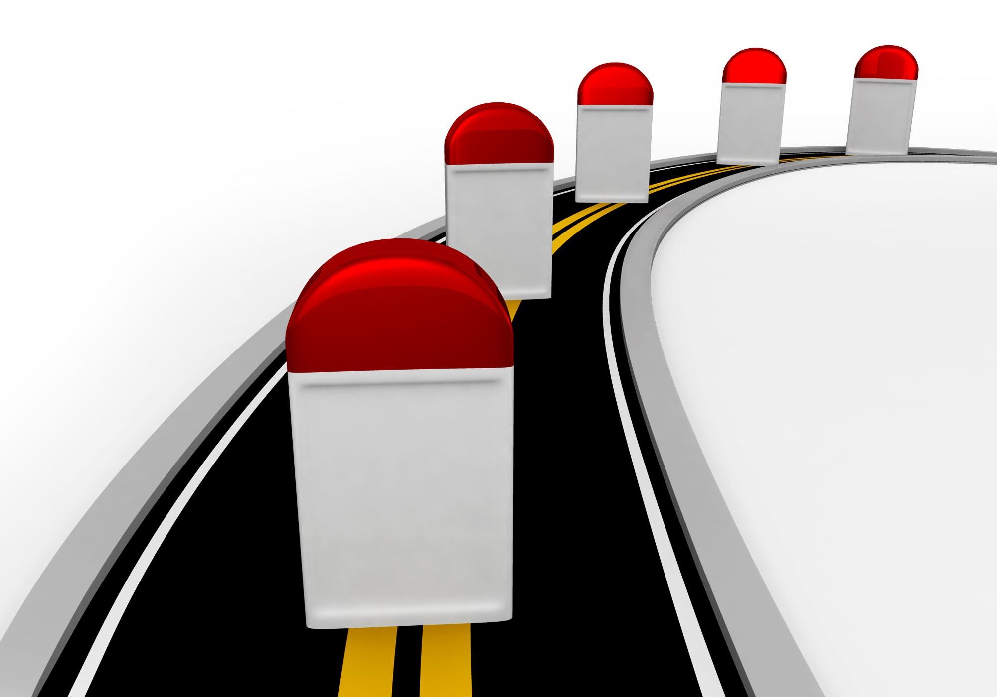 Road milestone clipart.