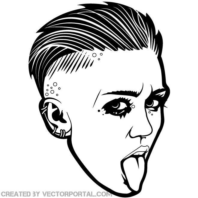 Miley Cyrus Clip Art.