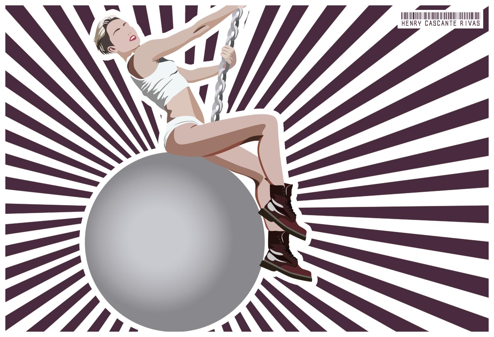 Miley Cyrus Wrecking Ball Clip Art.