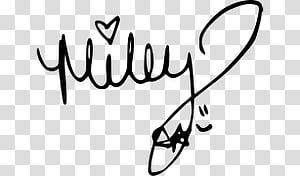 Recursos, Miley signature transparent background PNG clipart.