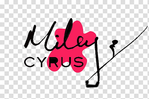 Milley Cyrus signature transparent background PNG clipart.