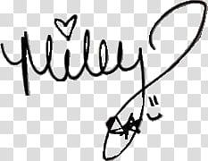 Milley Cyrus signature transparent background PNG clipart.