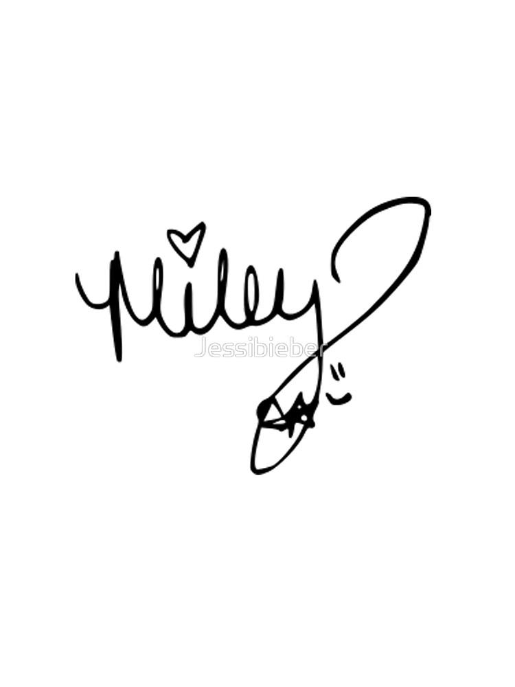 Miley Cyrus autograph.