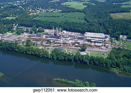 Stock Photography of Paper mill, Milford, New Jersey gwp112051.