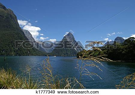 Stock Photograph of View over Milford Sound k1777349.