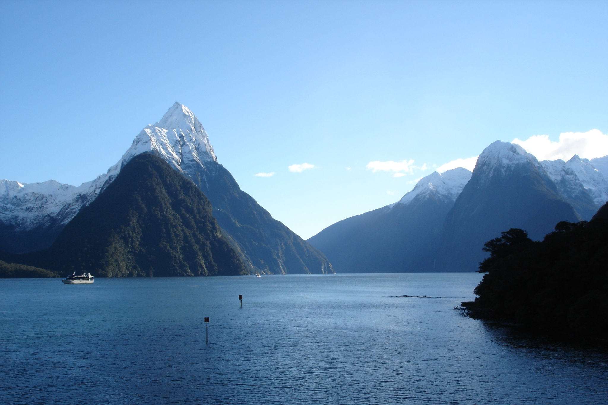 Milford Sound landscape in New Zealand.