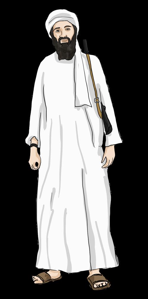Free Osama Bin Laden Clip Art.