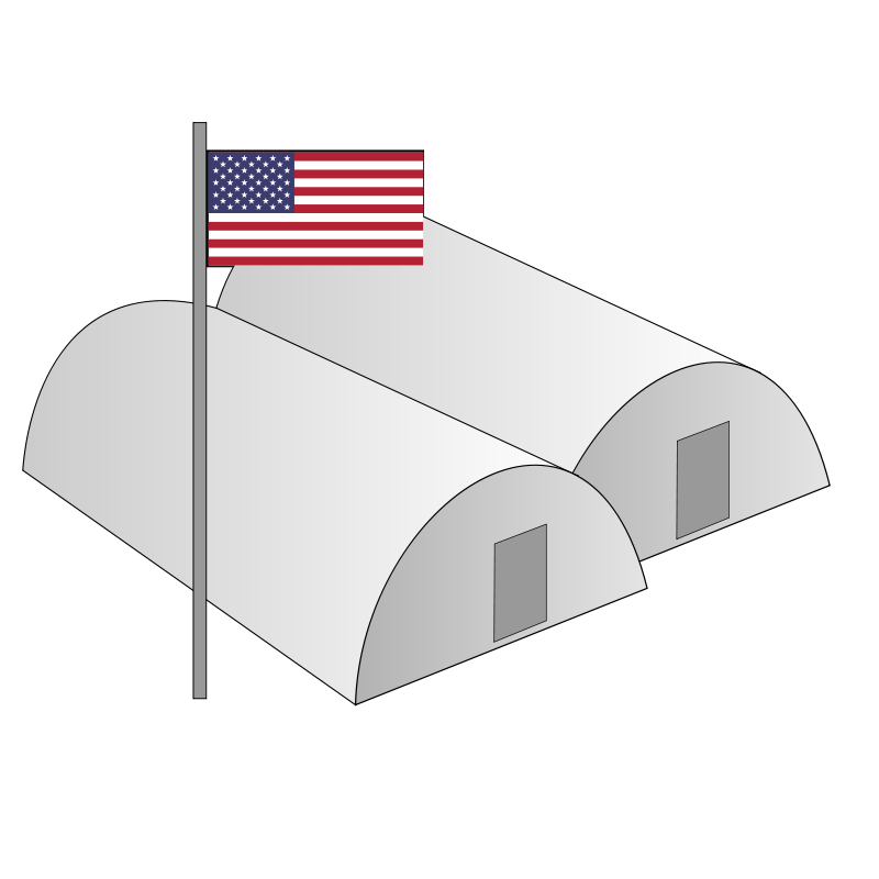 Military Building Cliparts.