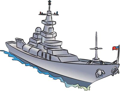 Cartoon Army Boat Clipart.
