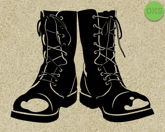 Combat boots svg, military boots svg files, vector, clipart.