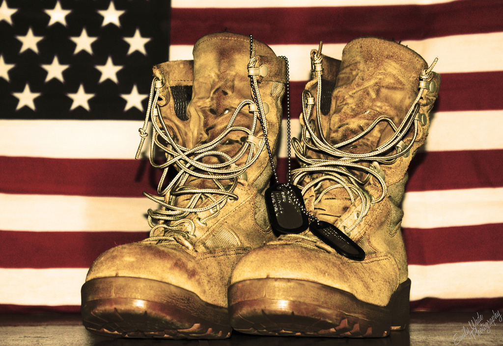 Military boots flag clipart.