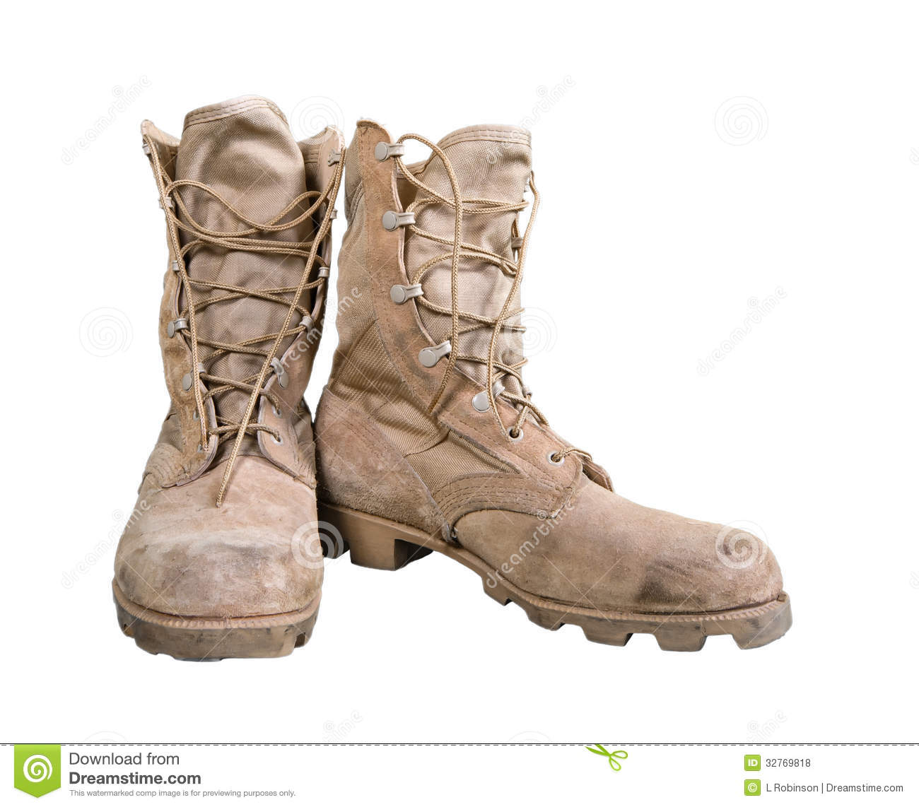 Military boots clipart...