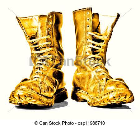 Combat Boots Clipart.