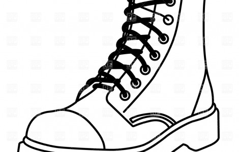 Clipart outline boots military.