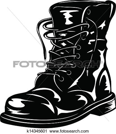 Army boot Clip Art EPS Images. 421 army boot clipart vector.