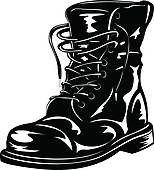 Military Boots Clipart.