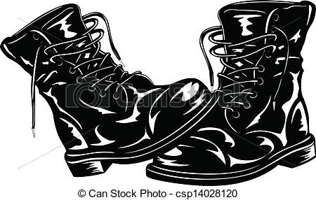 Soldier boots clipart.
