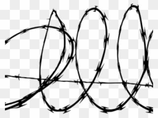 Barb Wire Clipart Military Border.
