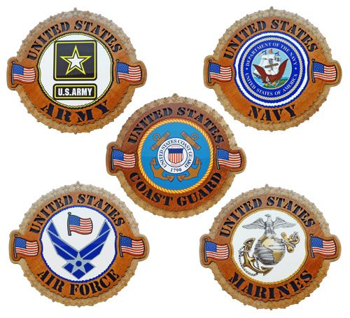 Military Branch Plaques.