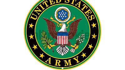 Army Military Logo Aluminum Metal Sign.