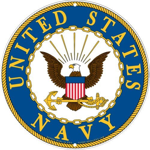 Details about NAVY Military Logo Aluminum Sign US Service Branch Metal Home  Wall Decor BLUE.